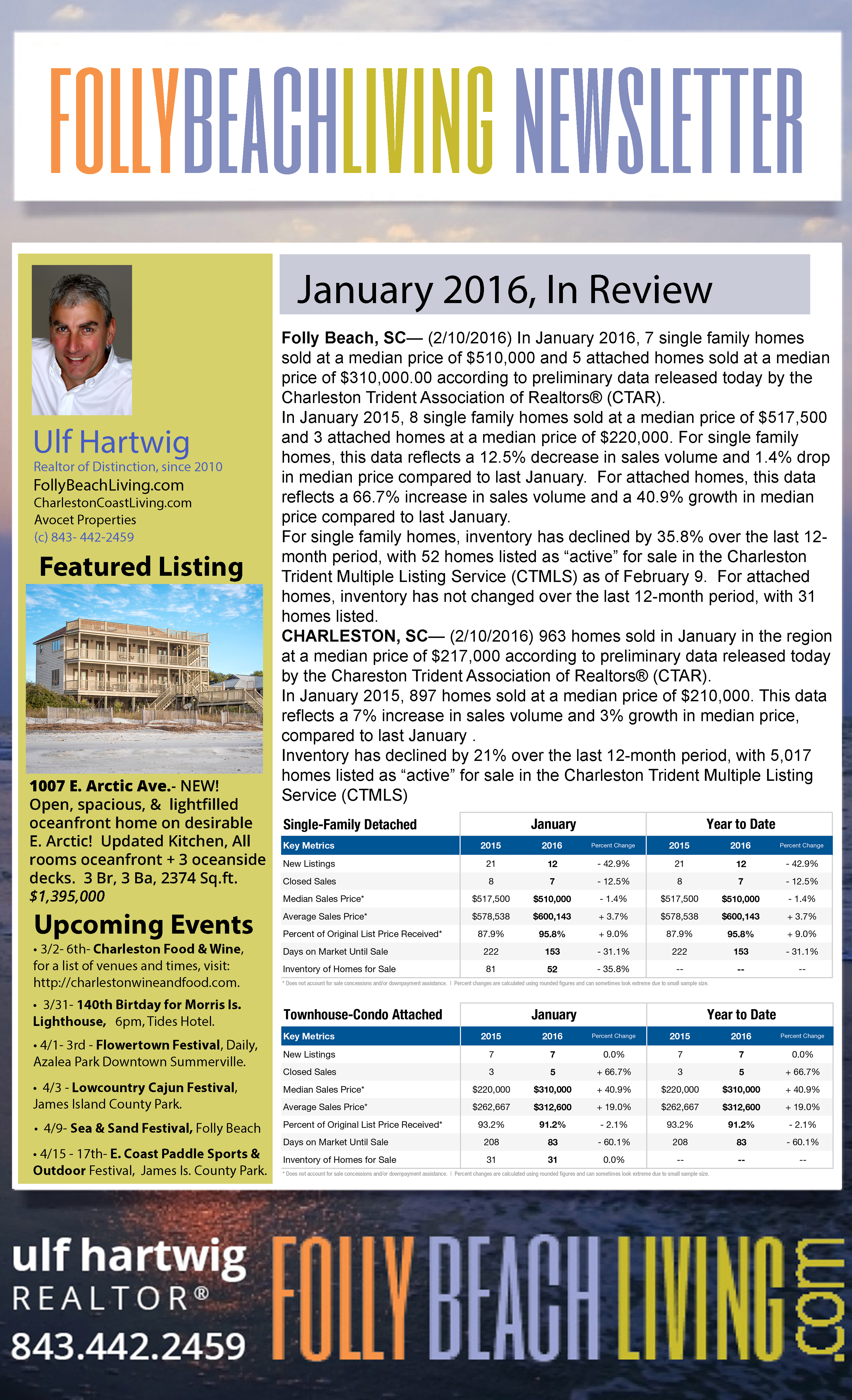 February 2016 Folly Beach Living Newsletter