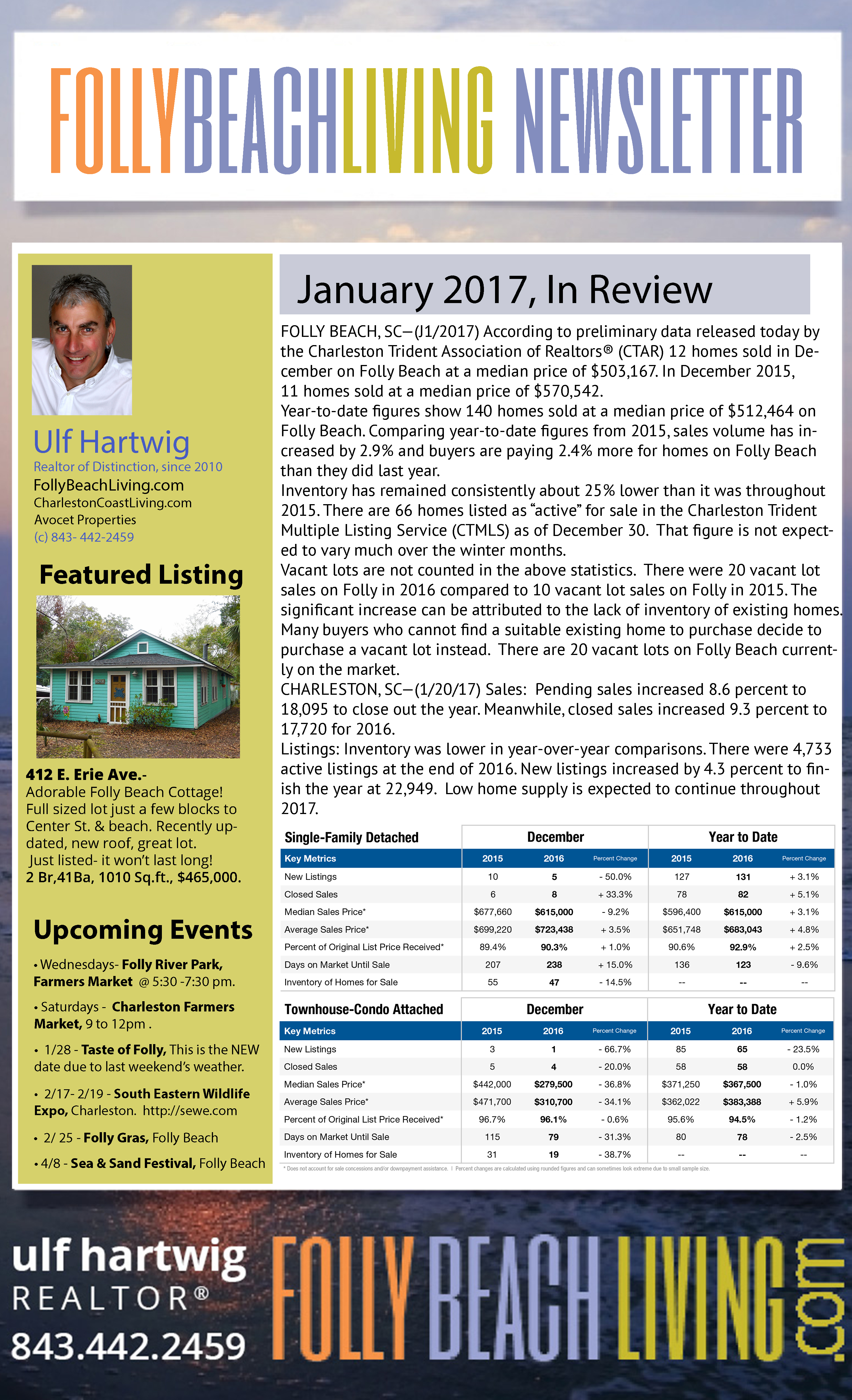 Folly Beach Living January 2017 Newsletter