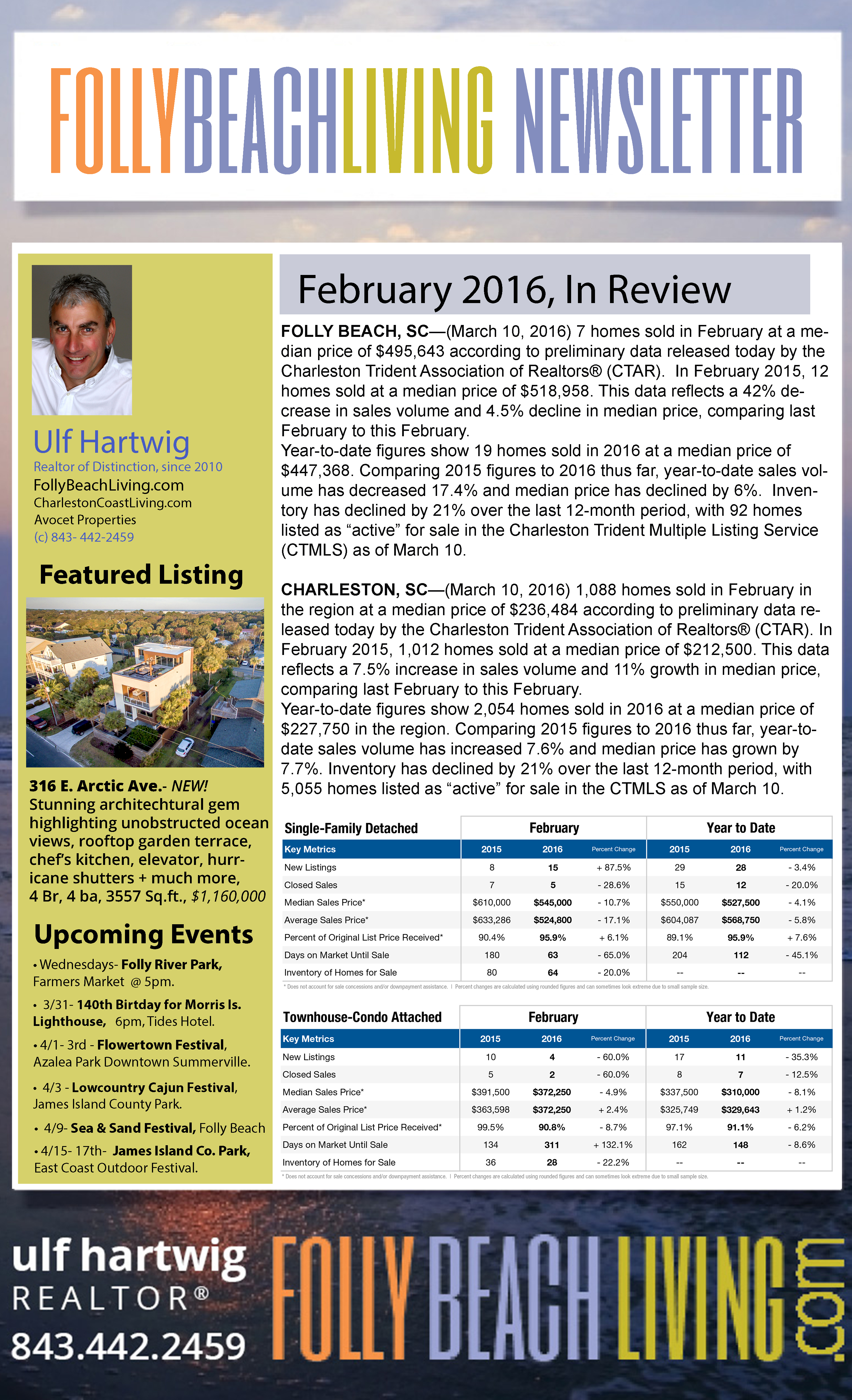 March 2016 Folly Beach Living Newsletter