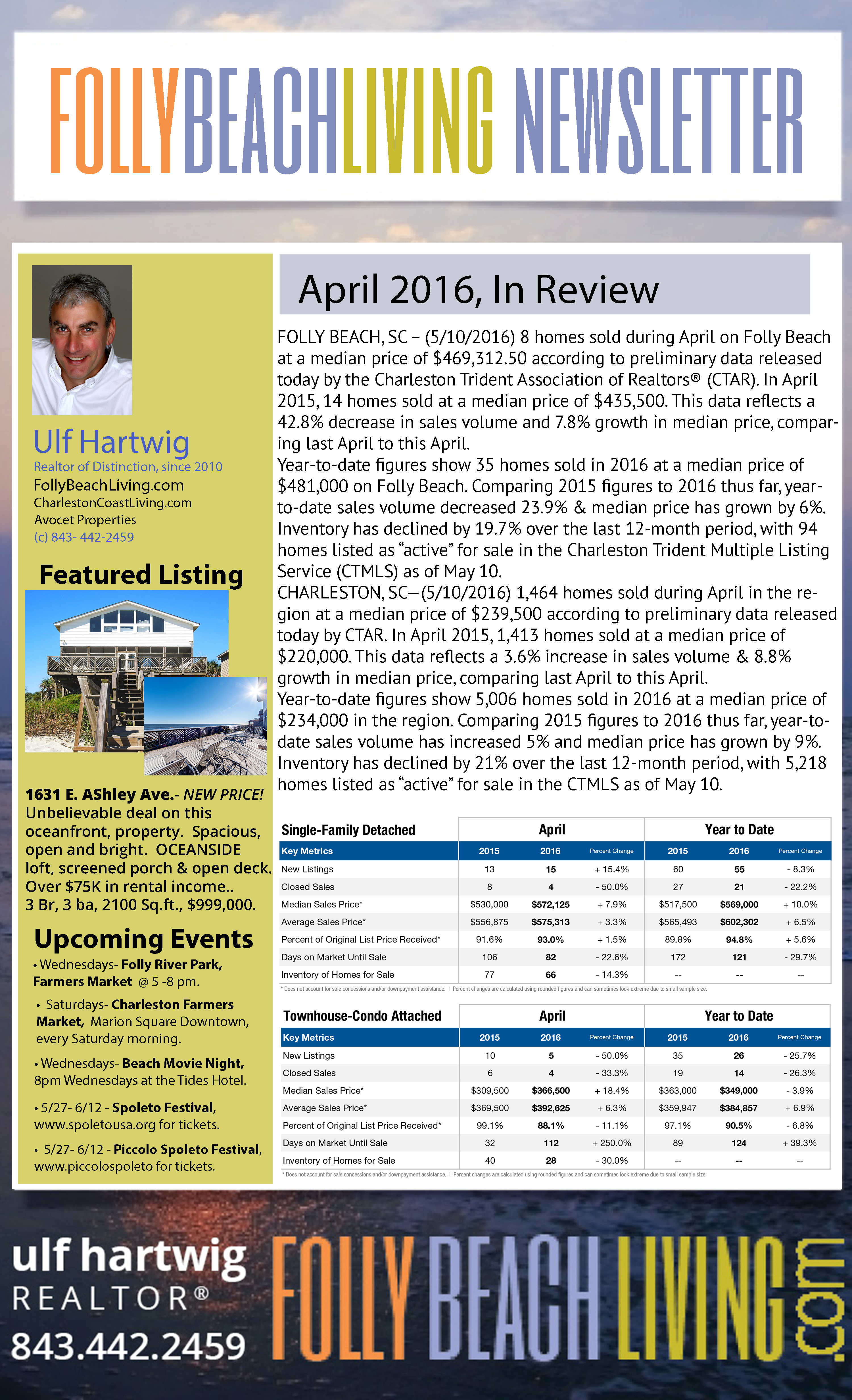 May 2016 Folly Beach Living Newsletter